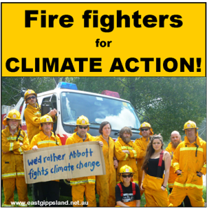 firefighters for  climate action