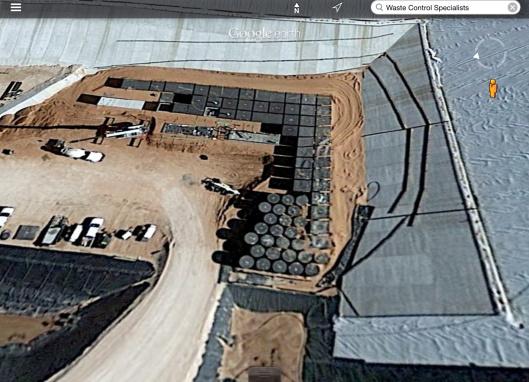 Rad Waste Barrels WCS Texas